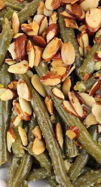 .~Parmesan Garlic Green Bean Almondine°°