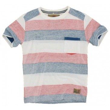 Hound - T-shirt gestreept rood
