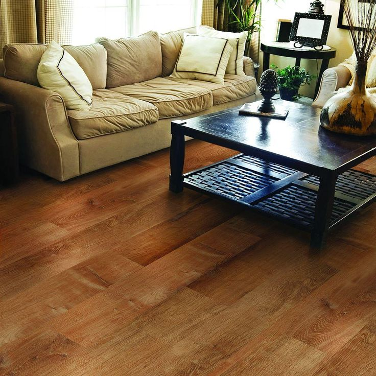 TrafficMASTER Allure Ultra Golden Oak Auburn Resilient Vinyl Plank Flooring    4 In. Take Home Sample   10096713   The Home Depot