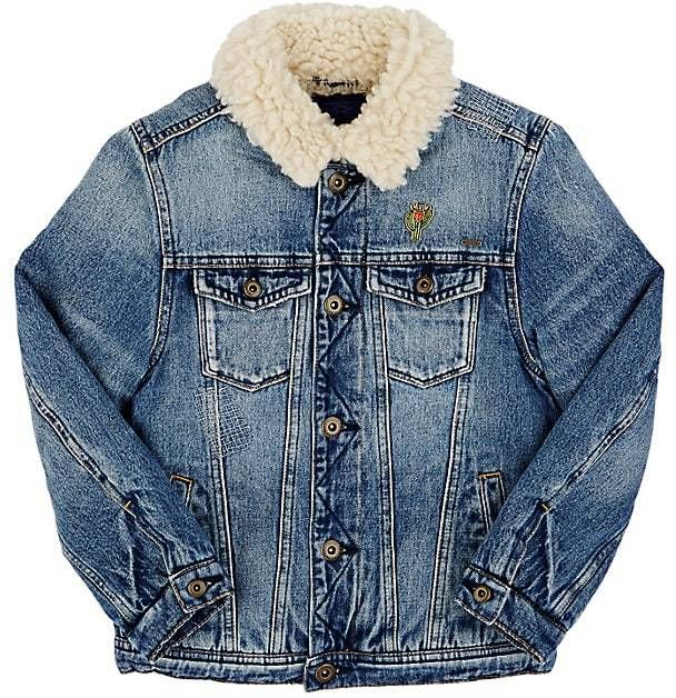 Scotch Shrunk Sherpa-Lined Denim Jacket