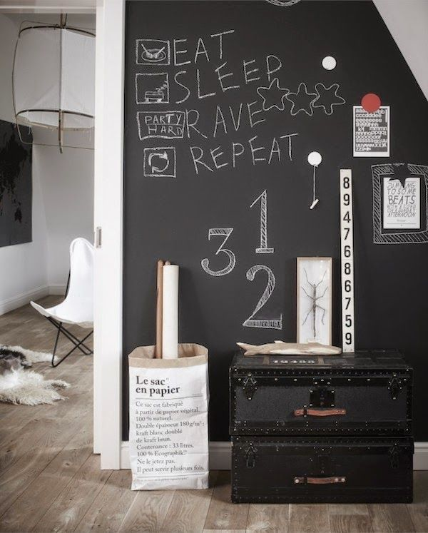 Cool black walls for teenage rooms