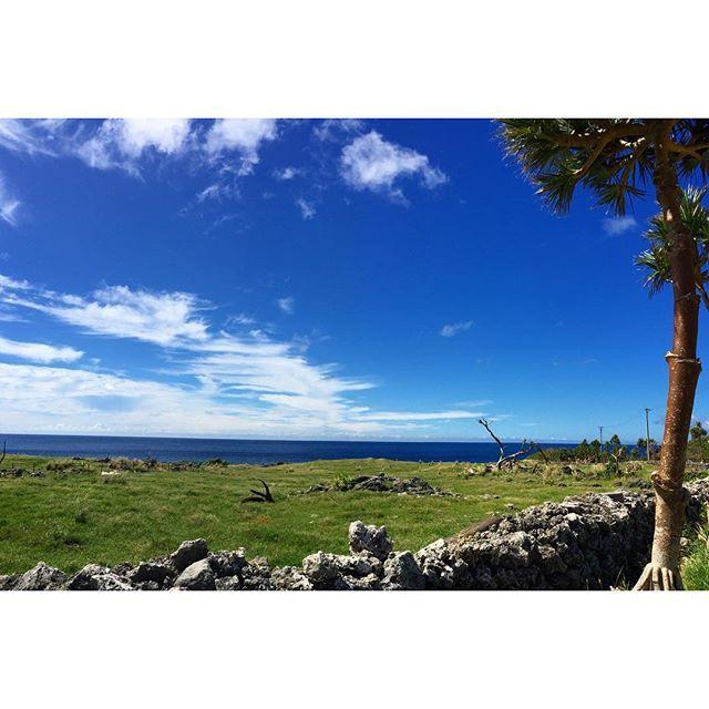 【maayublue】さんのInstagramをピンしています。 《2016.10.8  晴れた日の #ダンヌ浜  駐車場入り口手前から 過去pic okinawa yaeyama yonaguni island こんにちは😄 今日の与那国、 朝から雨☔️です。 夜中、朝方にゲリラ豪雨状態😅 朝起きたら涼しい事(笑) でも湿気があるからユルくクーラーONす💦 * 写真は、 お昼休みの家帰る前に寄り道「ダンヌ浜」🌊🌊🌊 雲の形が、 魚🐟の骨みたい😁(笑) * 与那国ブルー💙綺麗でした👍🏻✨ * #thewesternmostislandofjapan  #okinawa #yaeyama #yonaguni #沖縄 #八重山 #与那国 #日本最西端 #ダンヌ浜 #dannuhama #久部良 #kubura #海 #空 #雲 #青 #ブルー #波  #与那国ブルー  #桃原牧場 #アダンの木  #nikon #d5500 * ☀️🌴🌴🌴🚙〰〰🌴🌴🌴🌊🌊🌊》
