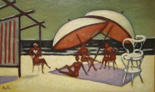 """""""En la playa"""" Horacio Butler - oleo sobre tela (1970) #arte #art #painting"""