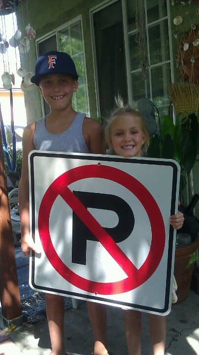 """Kids said. """"put the sign by the pool for... No peeing in the pool""""..."""