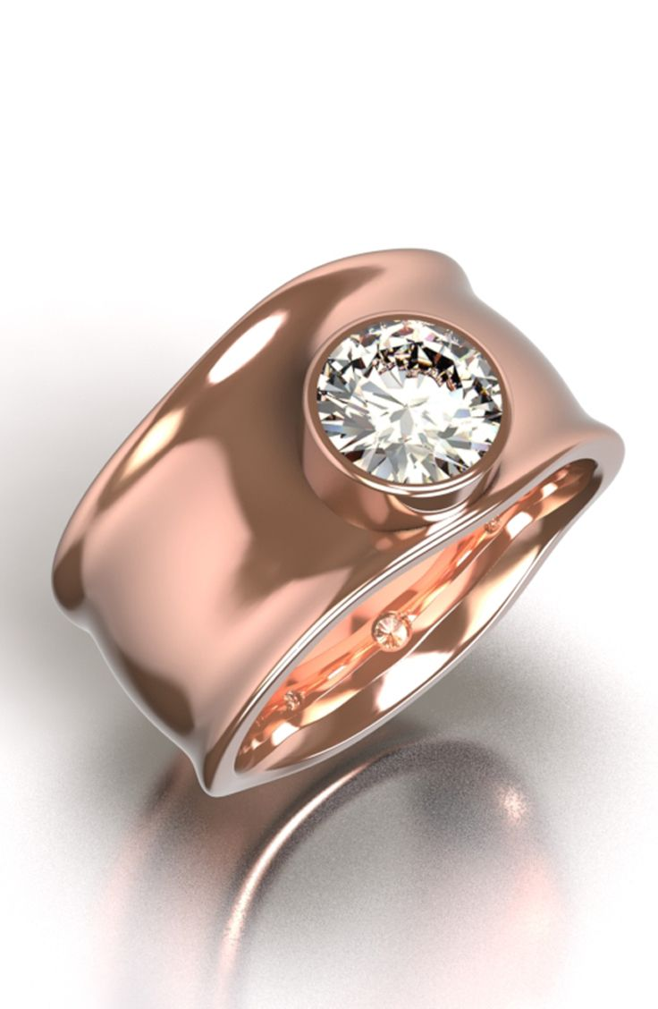 18ct rose gold dress #ring set with a clients supplied diamond that she inherited