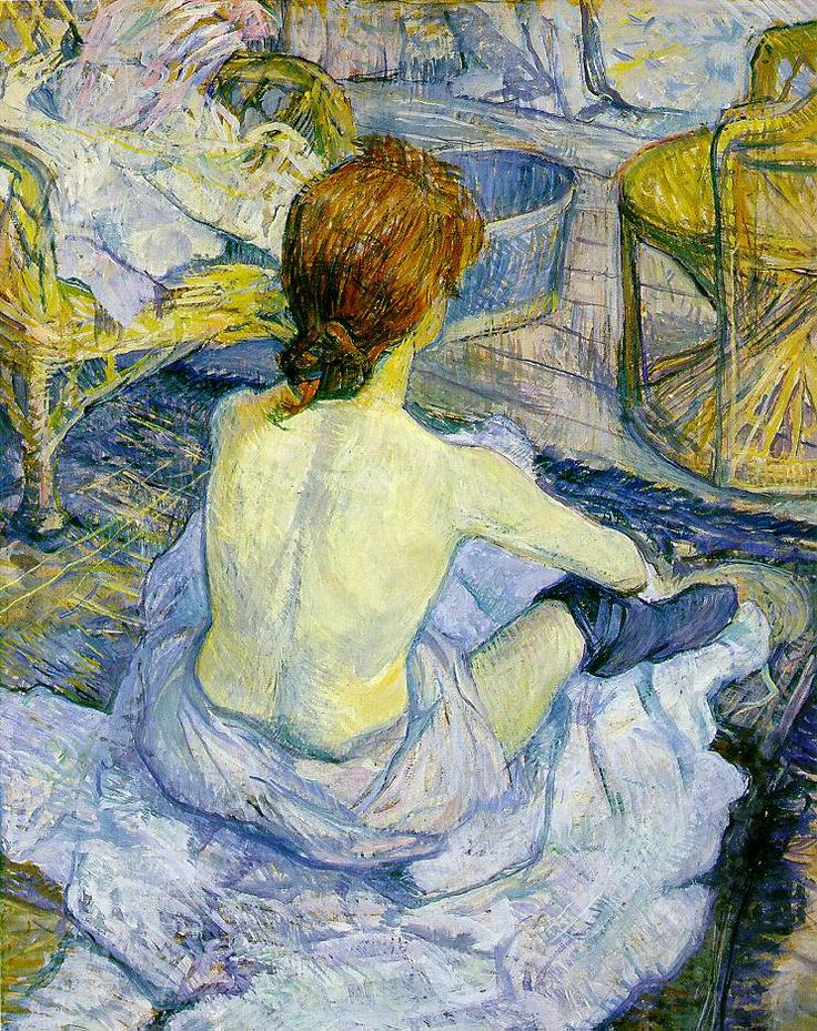 """""""Rousse (La Toilette)"""" Henri de Toulouse-Lautrec"""