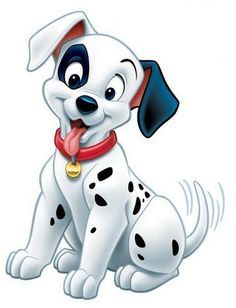 *PATCH ~ 101 Dalmations, 1961 I think it's important to note that the spots aren't all the same size or in the same pattern. Sometimes, one of them has a black ear. They have different colored collars.