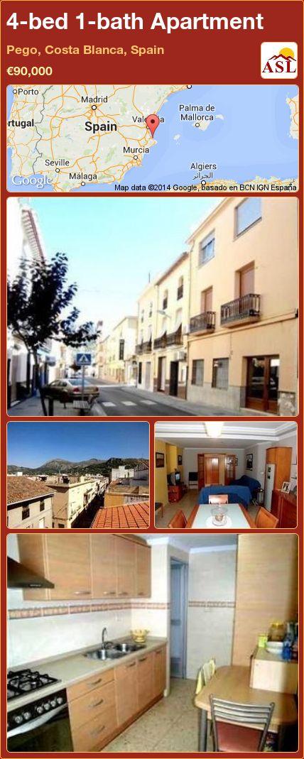 4-bed 1-bath Apartment in Pego, Costa Blanca, Spain ►€90,000 #PropertyForSaleInSpain