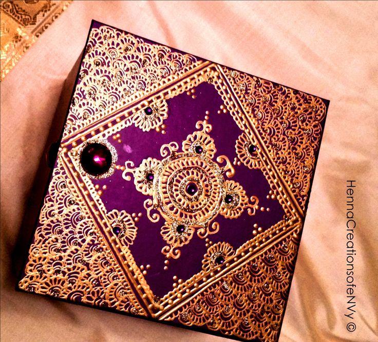 Moroccan Keepsake Wooden Box in Starry by HennaCreationsofeNVy