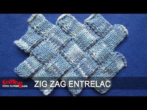 Zig Zag Entrelac Knitting - YouTube