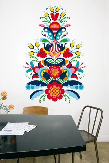Les 25 meilleures id es de la cat gorie collants color s for Miroir mural collant