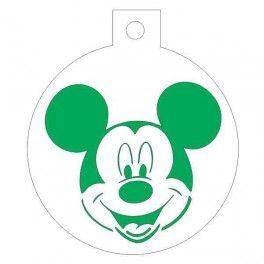 Categoría: Stencils Para Galletas - Producto: Stencil Galletas 7Cm-Mickey - Envase: Unidad - Presentación: X Unid.