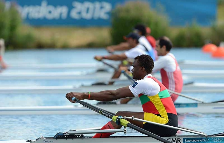 The first Nigerian Olympic rower in history, Hamadou Djibo Issaka. Training in a fishing boat, he started in this sport in May 2012... #Olympics