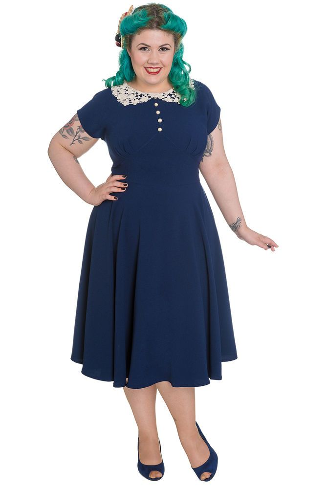 Hell Bunny Plus Size Vintage Classic Monologue Fit and Flare Dress #HellBunny #Flare #Casual