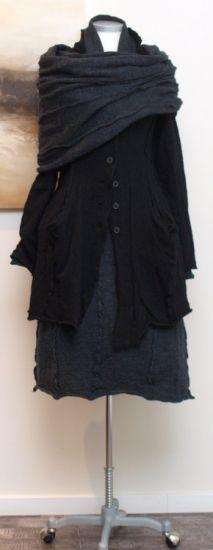 rundholz black label - Mantel gekochte Wolle black - Winter 2014 - stilecht - mode für frauen mit format...