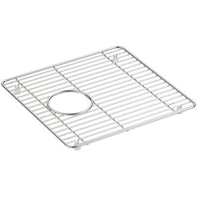 "Kohler Cairn Small Stainless Steel Sink Rack, 9-7/16"" x 14"", for K-8208"