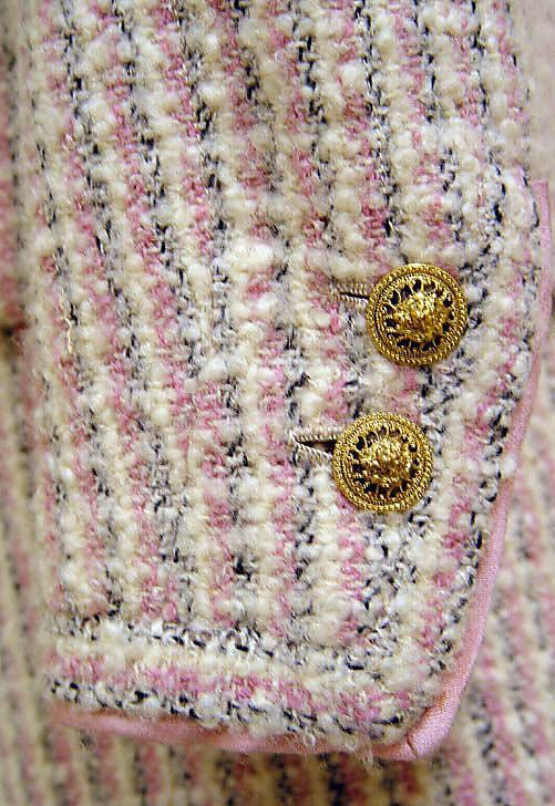 Chanel jacket detail, 1965