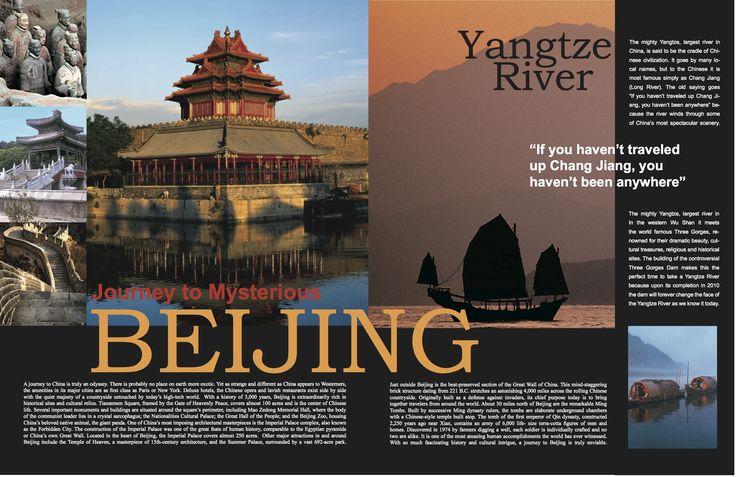 GD1 Travel Magazine Layout.   Graphic Design Stuff ...