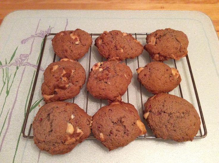 Biscuits aux framboises et au chocolat blanc
