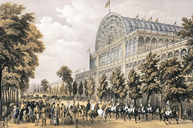 Crystal Palace. Obra de hierro y cristal de Josef Paxton (1851)