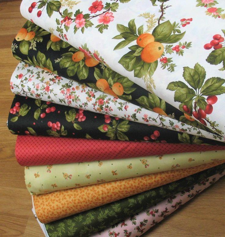 Cotton Fabric DIY Cloth Scraps Quilting Craft Bundle Patchwork Fruit Flower Yard