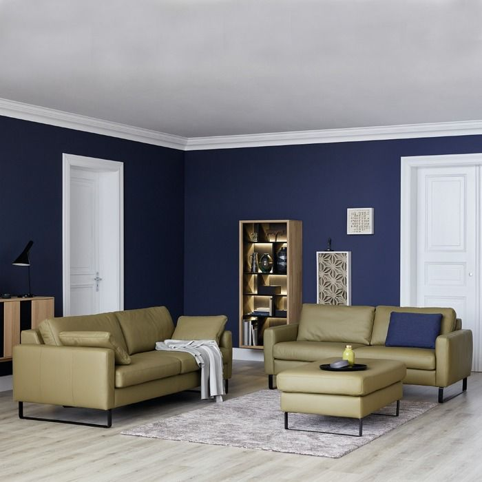Schoner Wohnen Sofa Timeless Olive Leder In 2020 Wandfarbe Wohnzimmer Schoner Wohnen Wohnzimmer Und Wohnzimmer Farbe