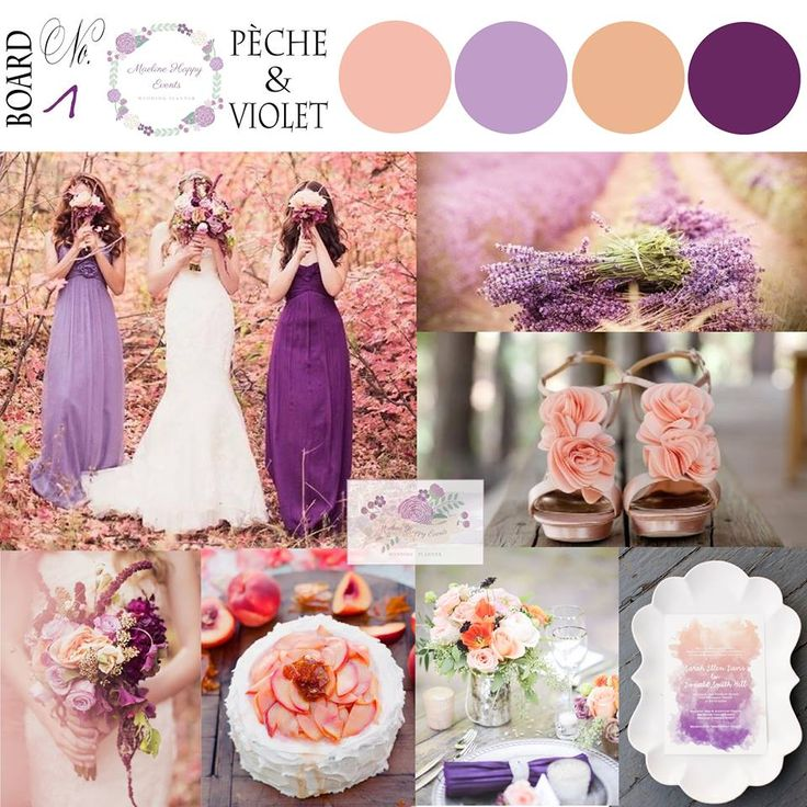 Inspiration mariage pèche et violet - peach and plum wedding inspiration - Maeline Happy Events Wedding Planner France