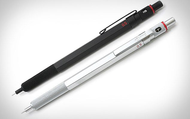 When you're in a creative groove, you don't need anything breaking your flow — and that goes double for your writing utensil. The Rotring 600 Drafting Pencil ($33) is a Japan-only dream with a nearly-perfect weight and feel, an all metal brass body with knurled grip and lead grade indicator, a fixed 4 mm sleeve, a clip, and an eraser under the top cap. Also available in silver.