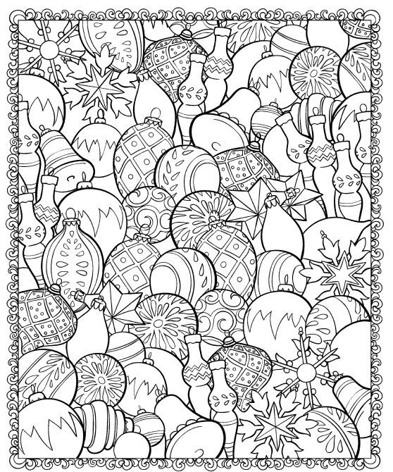christmas ornaments coloring page christmasscapes dover holiday coloring book