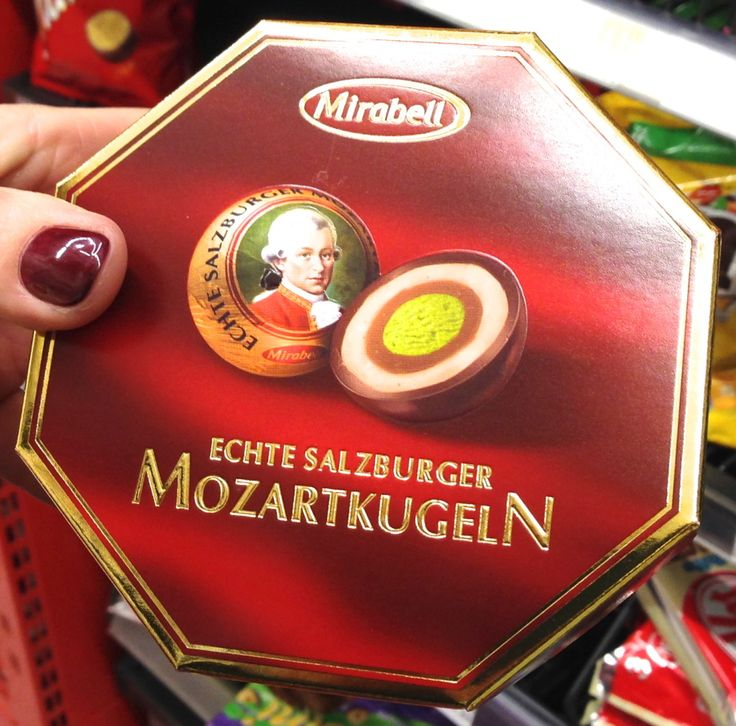 An alternative to the ubiquitous Mozart ball are these Sissi Talers– a combination of fruity apricot-marzipan on truffle cream, covered in milk chocolate. Description from souvenirfinder.com. I searched for this on bing.com/images