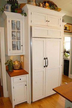 A Joyful Cottage: Cottage Style Kitchen. DIY paneled fridge doors