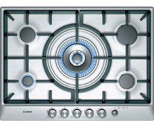 Bosch Exxcel PCR715M90E Built In Gas Hob - Brushed Steel