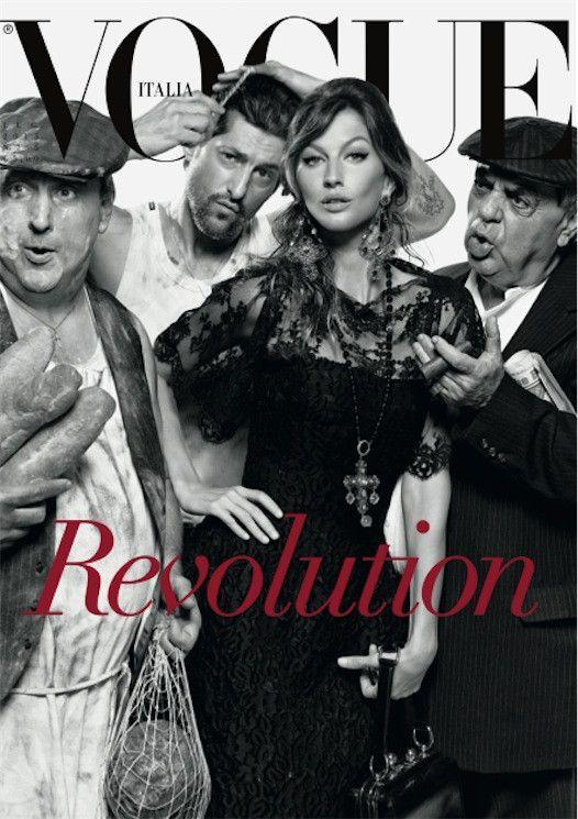 Gisele Bündchen in #dolcegabbana covers Vogue Italia, July 2013