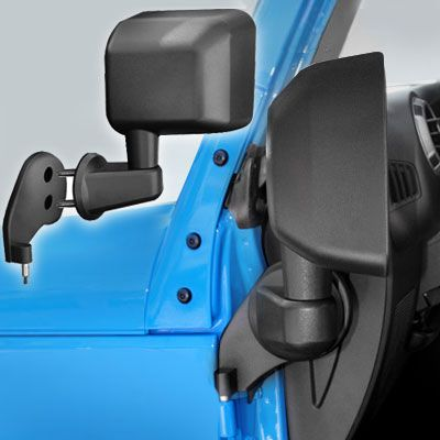 Die-Tech Off-Road Mirror Brackets and Mirrors for 07-up Jeep® Wrangler JK