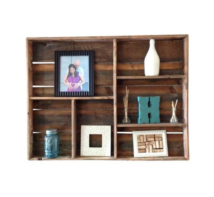 vu sur houzz caisse tag re crate shelf crates wood box cageots et caisses bois. Black Bedroom Furniture Sets. Home Design Ideas