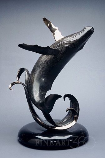 Scott Hanson Making Waves #bronze #whale #sculpture