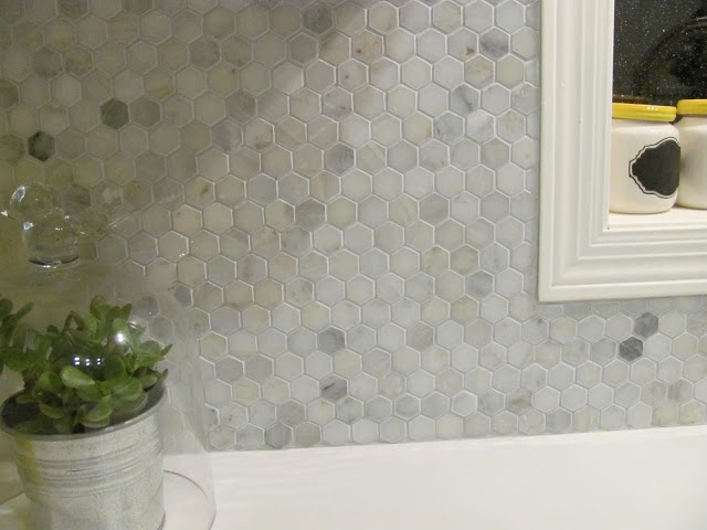 marble hex tile kitchen backsplash hampton carrara polished 1 x 1 hex