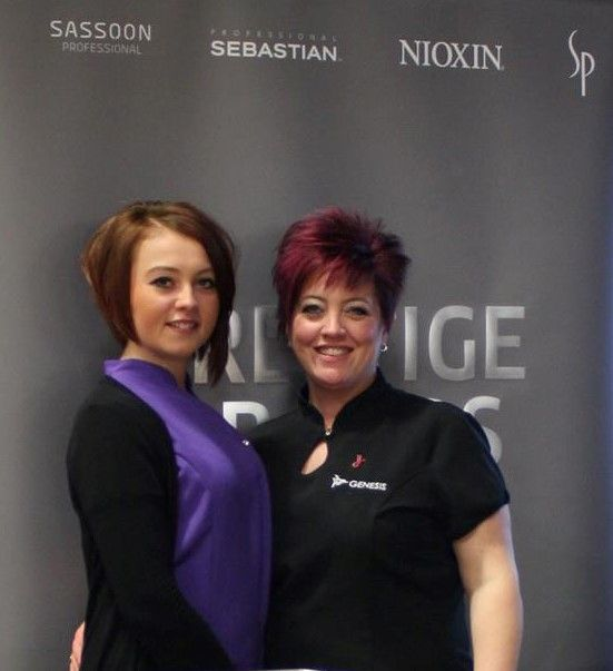 Meet the Genesis team...owner Paula and daughter Abbie at a local event.  #genesis #hairsalon #tadcaster