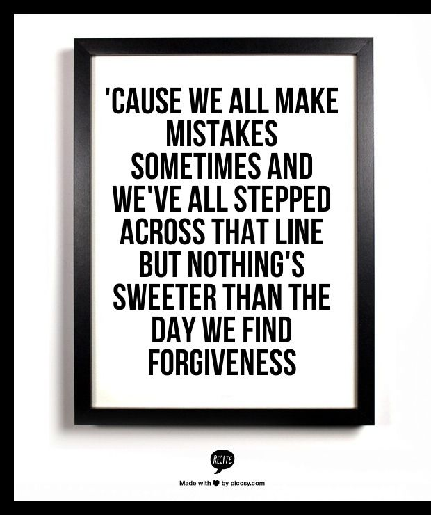 Christian song forgiveness lyrics