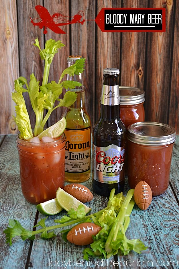 This Bloody Mary Beer is not just for at home game watchers you can also pack it up for tailgating.