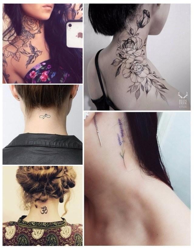 Diseños de tatuajes para mujeres en el cuello