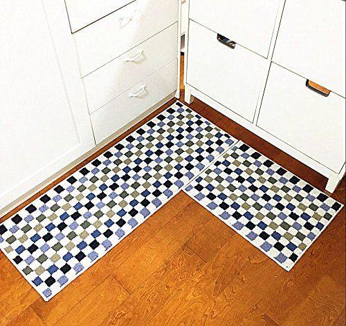Eanpet Kitchen Rugs Sets 2 Piece Kitchen Floor Mats Non Slip Rubber