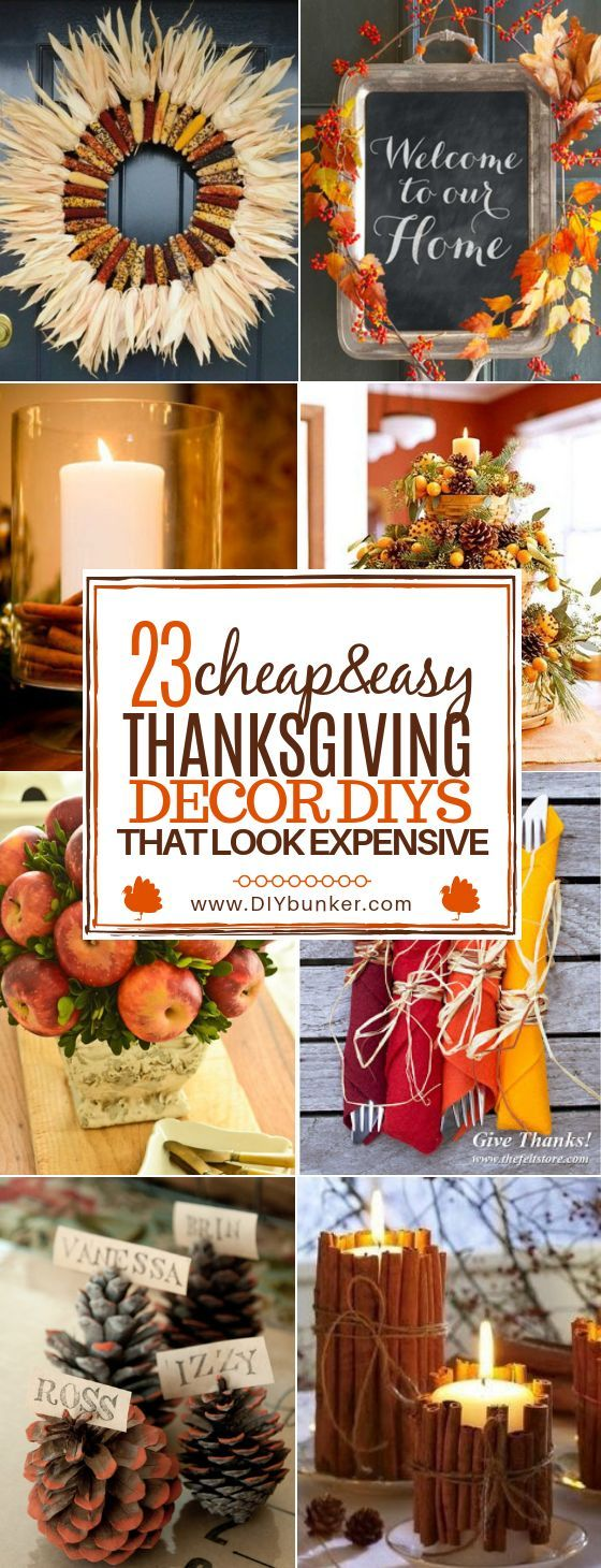 23 Thanksgiving DIY Decor You can Make on the Cheap