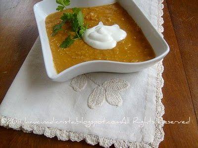 Zuppa di lenticchie rosse - Supa de linte rosie - Red lentils soup