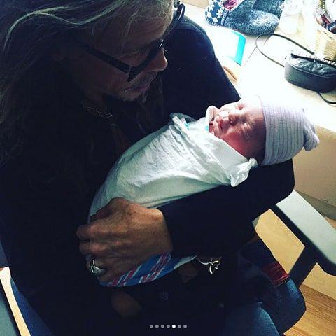 Steven Tyler and his grandson