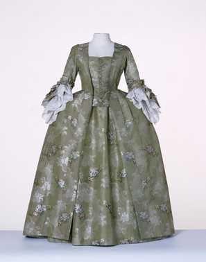 Robe à la française: overkleed en rok (ca. 1770 - ca. 1775)