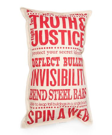 Take a look at this Red Super Powers Pillow by Twelve Timbers on #zulily today!