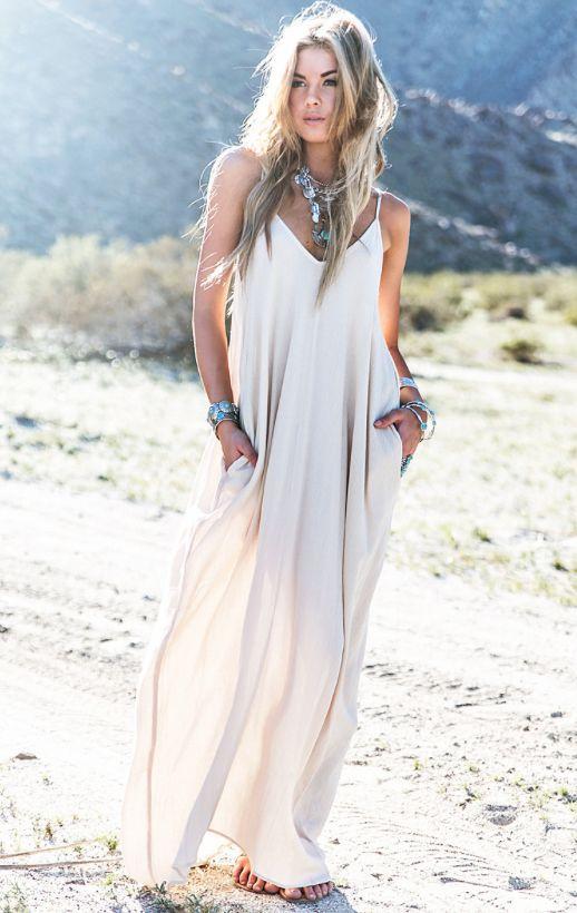 ec213705bf19 Boho Maxi Beach dress