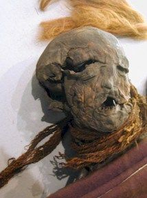 The bog bodies of Europe | Mathilda's Anthropology Blog, This is one of Europes bog bodies, found in 1897 by peat cutters by the village of Yde in the Netherlands.  Carbon dating on the body dated her to the first century AD. She had been killed by strangulation; a woolen belt was wrapped around her neck three times and was she then strangled. A small stab wound was found at the base of her throat, suggesting this was some kind of ritual killing.  She is estimated to have been about 16 years…