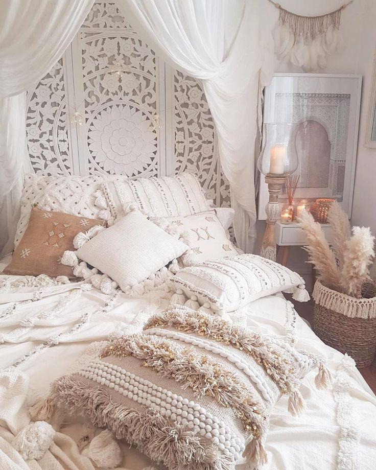 Böhmische Schlafzimmer Dekor und Bett Design-Idee…